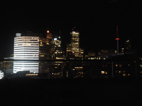 Chelsea Hotel, Toronto: our view at night, near Dundas square