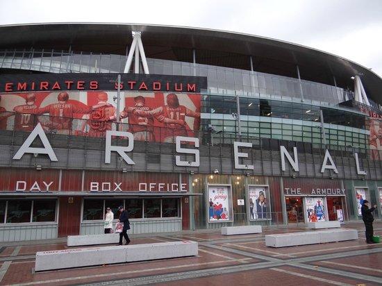 Emirates Stadium: Frente do estádio