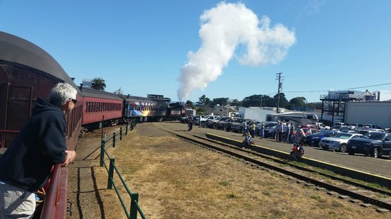 All aboard - Leaving Fort Bragg on the Skunk train
