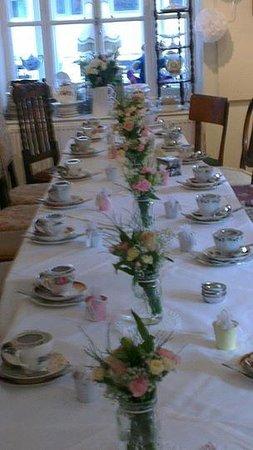Pettigrew Tea Rooms: tearoom table
