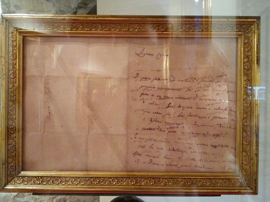 Accademia di Belle Arti Tadini: La lettera autografa di Donizetti esposta nella sala Hayez.