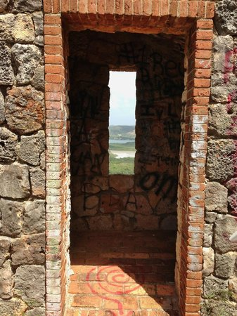 Guanica Dry Forest Look Thru Door To Window Ocean
