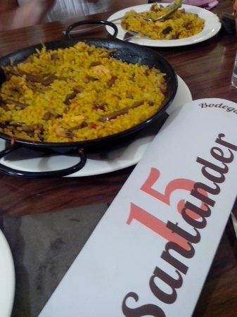 Restaurante Santander15 : paella spettacolare.