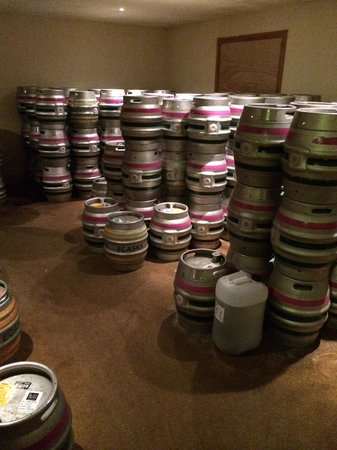Benleva Hotel: The beer ready for delivery at the brewery