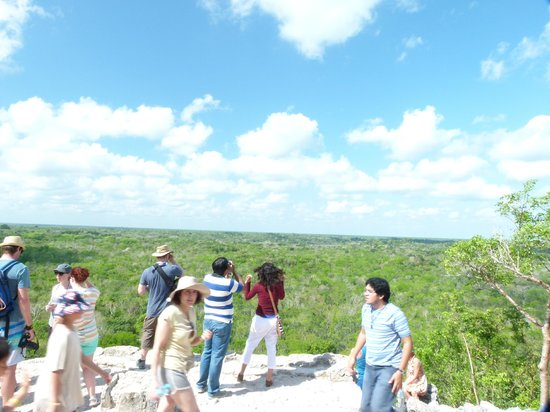 Mexico Kan Tours - Day Tours: At the top of the Coba Temple