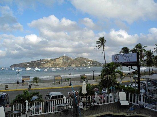 Hotel Victoriano: Blick auf die Bucht von San Juan del Sur vom Balkon aus