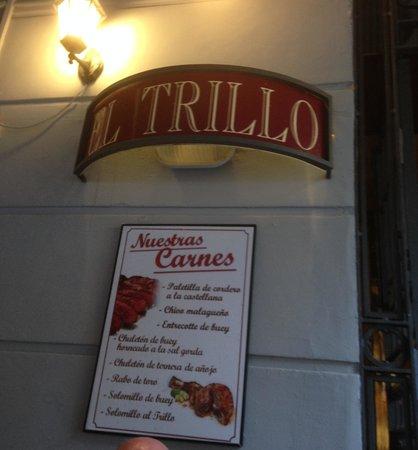 El Trillo Malaga: Outdoor Sign