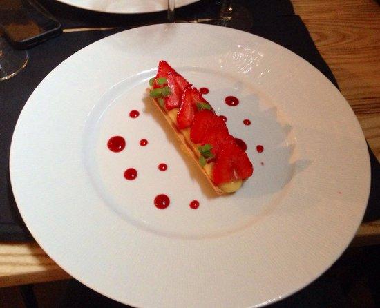 La part des Anges : Tarte citron fraise basilic