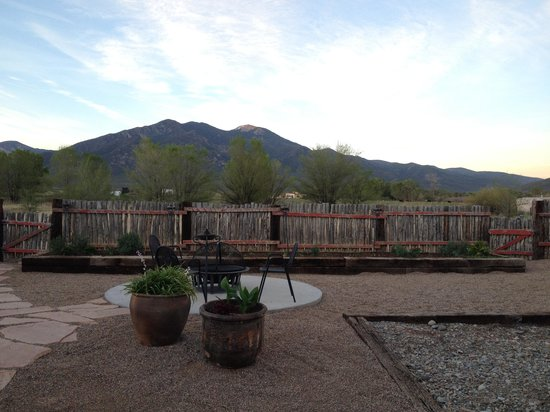 El Meze Restaurant: View out back at sunset