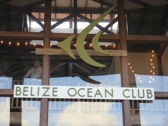 Belize Ocean Club Resort: Lounge/Restaurant on Lagoon Side