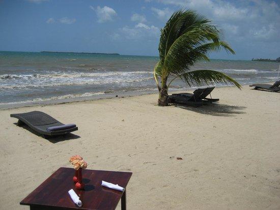 Belize Ocean Club Adventure Resort: Beach in Front of Pool