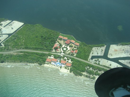 Belize Ocean Club Adventure Resort: View of Hotel Property from Above