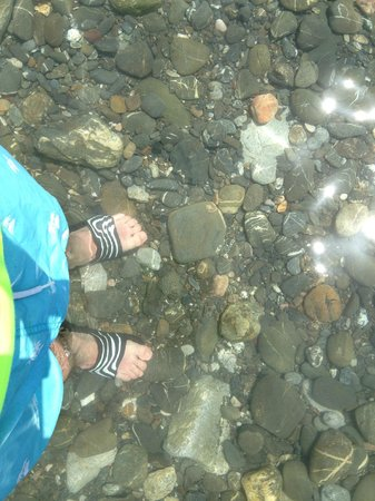 Therma Beach: clear water