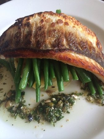The Gladstone Arms: Sea bass fillet