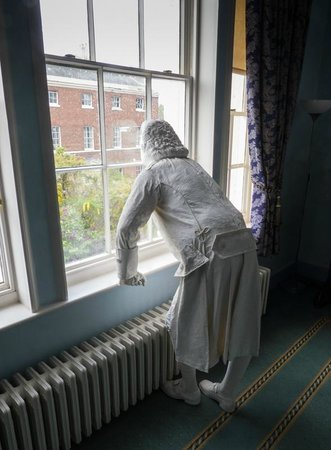 Erasmus Darwin House: The ghost of Erasmus Darwin contemplates the town. Looking to the future.