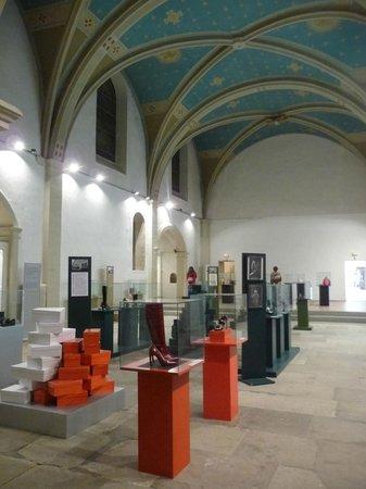 Musée International de la Chaussure - the old convent chapel, now a temple to shoes!