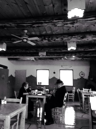 Taos Pueblo: Another view of the interior and some fantastic people whose company we enjoyed during our time