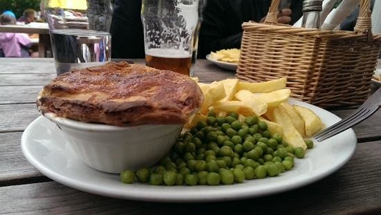 The Old Dungeon Ghyll Hotel: Game Meat Pie...fresh and fabulous !