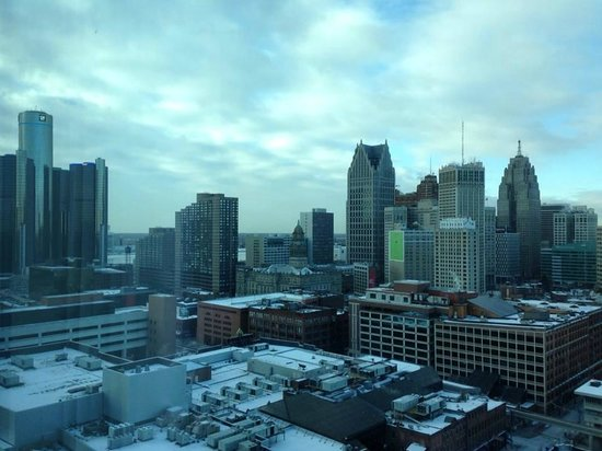 Greektown Casino Hotel : View from my room after a lot of snow