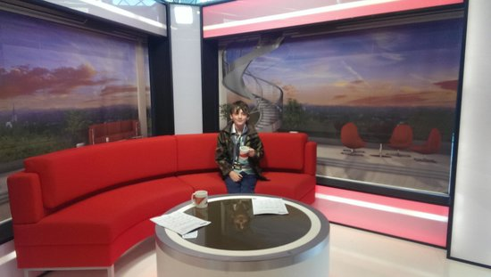 ibis budget Manchester Salford Quays: BBC tour gives everyone a chance to present breakfast TV