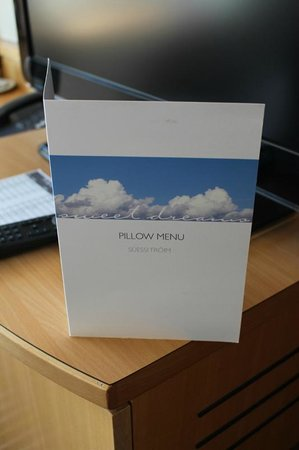 Swissotel Zurich : The pillow menu