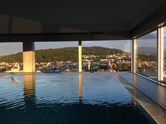 Swissotel Zürich: Unbeatable view from the swimming pool