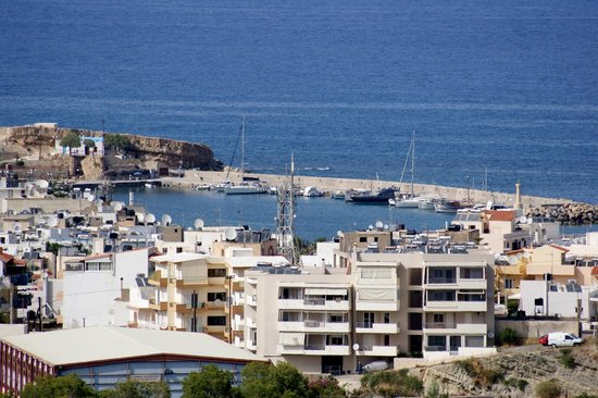 Asterias Village Resort: View of harbour from balcony