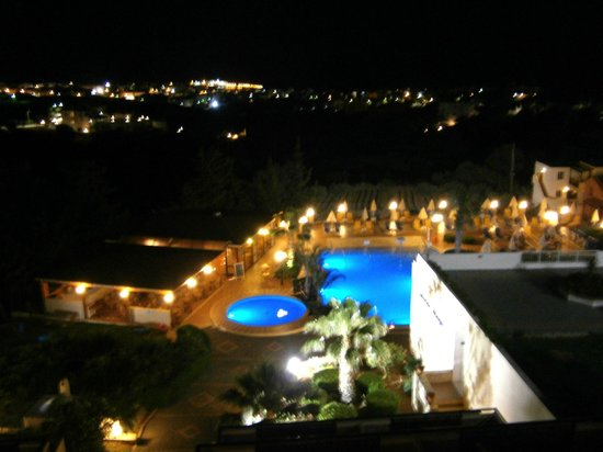 View fom balcony at night picture of asterias village for Balcony at night
