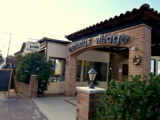 Asterias Village Resort: Front of hotel on village street