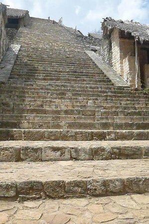 Ek Balam Mayan Ruins : Many many many stairs