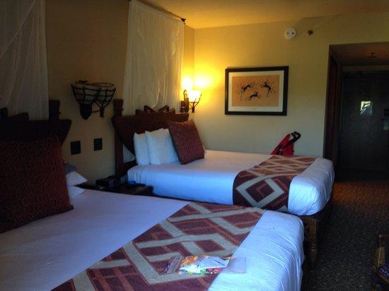 Disney's Animal Kingdom Lodge: Our room.