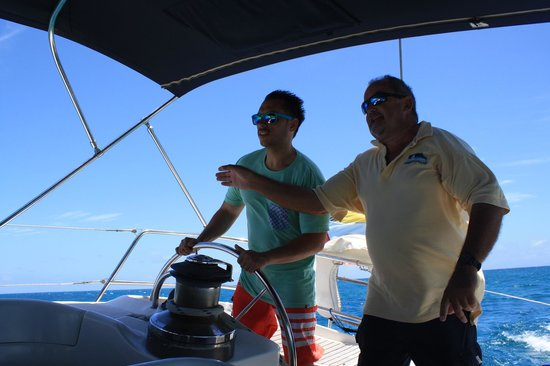 Adventure Caribbean Yacht Charter: Having fun driving