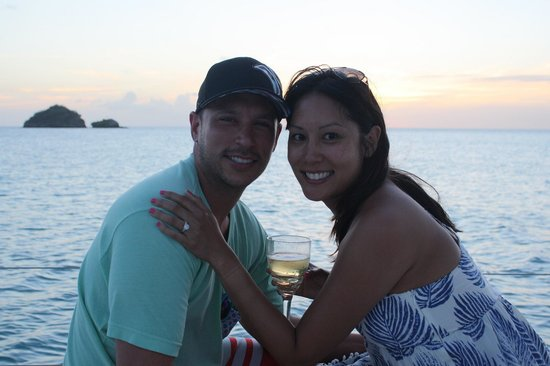 Adventure Caribbean Yacht Charter: Were engaged!!!