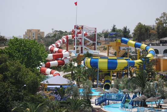 Acqua Palace Water Park : Space Boat & Black Hole water slides