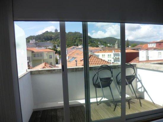 Hotel Laranjeira: Terrasse vue Santa Luzia