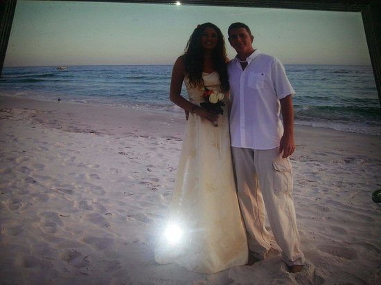 Bikini Beach Resort: Our wedding picture in October of 2009