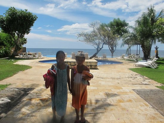 Aneka Bagus Pemuteran Resort & Spa: The pool overlooking the sea