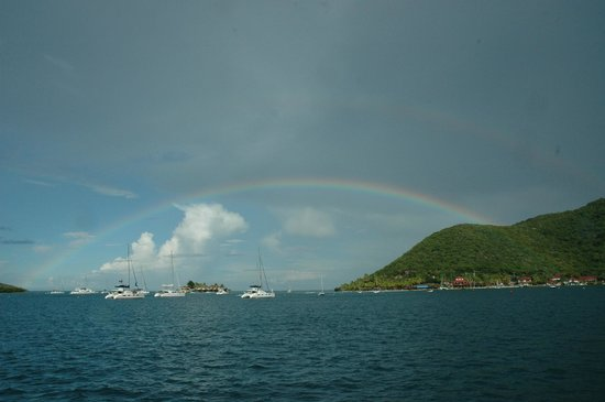 Bitter End Yacht Club: Rainbow over Bitter End