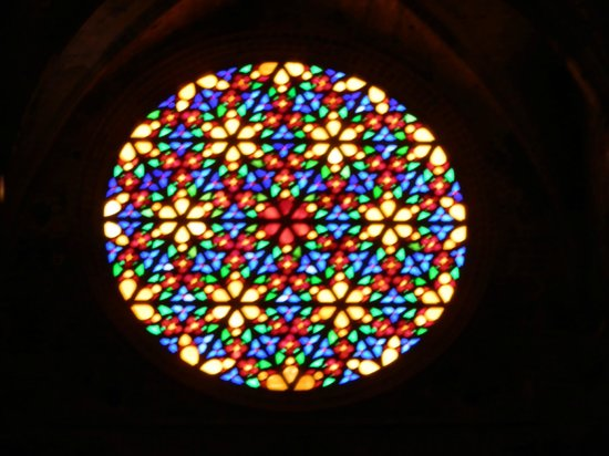 Hotel Palma Mazas: Rose window Palma Cathedral