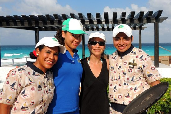 GR Caribe by Solaris: Part of the pool staff: with Veronica, Pamela & Henry.