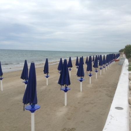 Hotel del Levante: the private beach