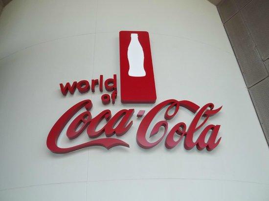 World of Coca-Cola signage