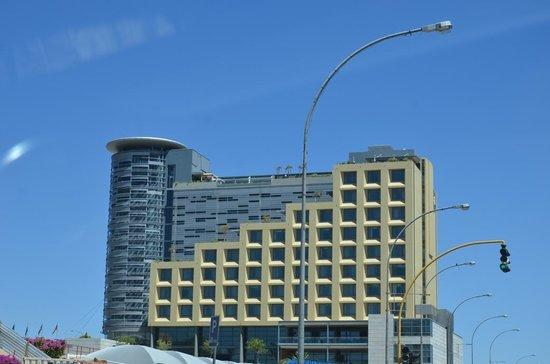 Vista geral do hotel Hilton Windhoek-Namíbia