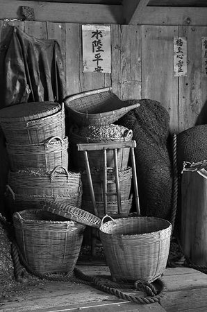 China Camp State Park : Shrimp Baskets in Museum