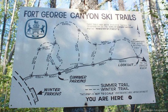 Fort George Canyon Provincial Park: map