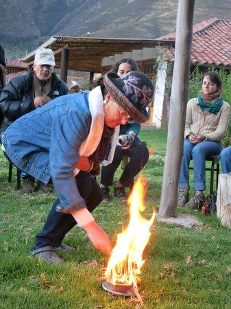 Hotel La Casona De Yucay Valle Sagrado : Pago Ceremony