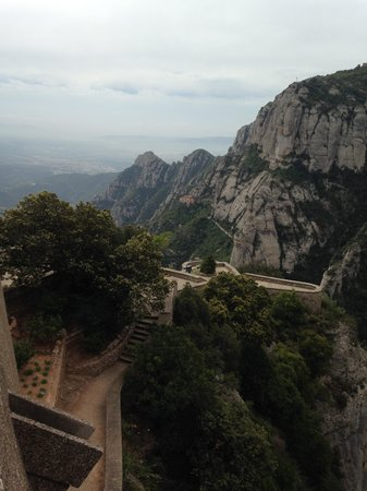 Barcelona Day Tours: The view from Monserrat (serrated mountain)