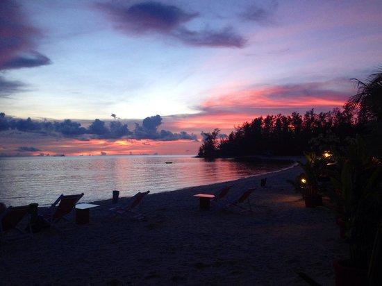 Sunset from Nice Sea Resort