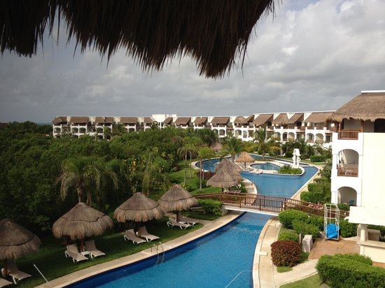 Valentin Imperial Maya: View from our room and lazy river