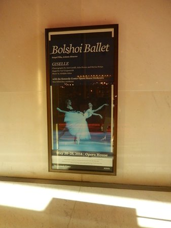 John F. Kennedy Center for the Performing Arts: Billboard in the Hall